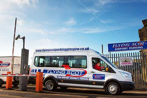 Glasgow-Airport-Flying-Scot-Express-Transfer-Van