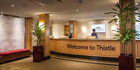 LHR Thistle Hotel Reception