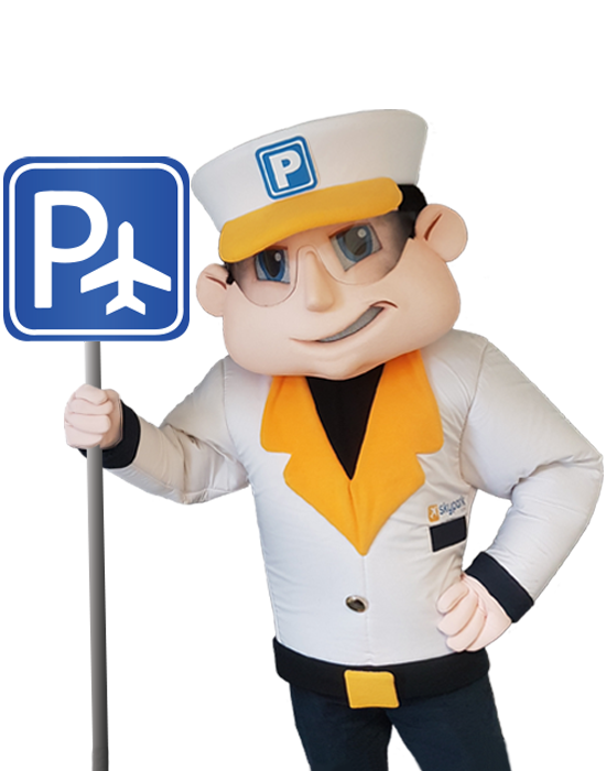 SkyParkSecure parking sign