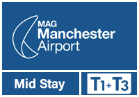 Manchester Airport T1 & T3 Mid Stay logo