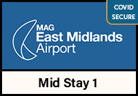East Midlands Airport Mid Stay 1 car park logo